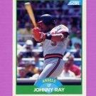 1989 Score Baseball #014 Johnny Ray - California Angels