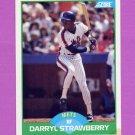 1989 Score Baseball #010 Darryl Strawberry - New York Mets