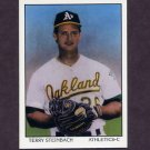 1990 Score Baseball #693A Terry Steinbach DT - Oakland A's (ERR)