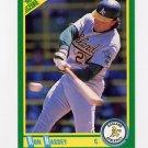 1990 Score Baseball #168A Ron Hassey - Oakland A's (ERR)