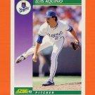 1992 Score Baseball #369 Luis Aquino - Kansas City Royals
