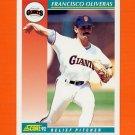 1992 Score Baseball #295 Francisco Oliveras - San Francisco Giants