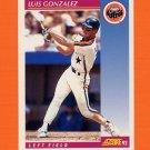 1992 Score Baseball #210 Luis Gonzalez - Houston Astros