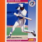 1992 Score Baseball #198 Devon White - Toronto Blue Jays