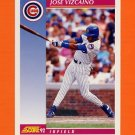 1992 Score Baseball #169 Jose Vizcaino - Chicago Cubs