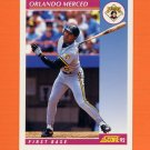 1992 Score Baseball #153 Orlando Merced - Pittsburgh Pirates