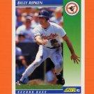 1992 Score Baseball #097 Billy Ripken - Baltimore Orioles