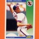 1992 Score Baseball #012 Mark Langston - California Angels