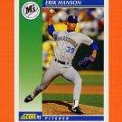 1992 Score Baseball #008 Erik Hanson - Seattle Mariners