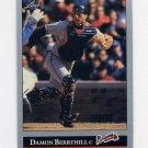 1992 Leaf Baseball #423 Damon Berryhill - Atlanta Braves