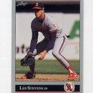 1992 Leaf Baseball #361 Lee Stevens - California Angels