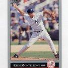 1992 Leaf Baseball #352 Rich Monteleone - New York Yankees