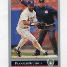 1992 Leaf Baseball #328 Franklin Stubbs - Milwaukee Brewers