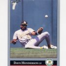 1992 Leaf Baseball #232 Dave Henderson - Oakland A's