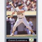1992 Leaf Baseball #148 Carney Lansford - Oakland A's