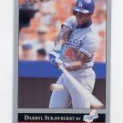 1992 Leaf Baseball #029 Darryl Strawberry - Los Angeles Dodgers