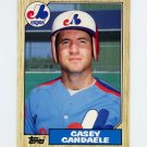 1987 Topps Traded Baseball #017T Casey Candaele - Montreal Expos