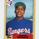 1987 Topps Traded Baseball #011T Jerry Browne - Texas Rangers