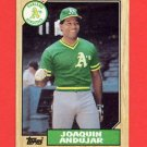 1987 Topps Baseball #775 Joaquin Andujar - Oakland A's