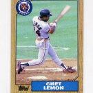 1987 Topps Baseball #739 Chet Lemon - Detroit Tigers