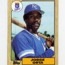 1987 Topps Baseball #738 Jorge Orta - Kansas City Royals