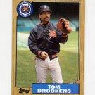 1987 Topps Baseball #713 Tom Brookens - Detroit Tigers