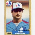 1987 Topps Baseball #707 Bob McClure - Montreal Expos