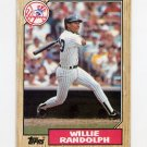 1987 Topps Baseball #701 Willie Randolph - New York Yankees