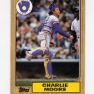 1987 Topps Baseball #676 Charlie Moore - Milwaukee Brewers