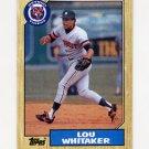 1987 Topps Baseball #661 Lou Whitaker - Detroit Tigers