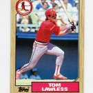 1987 Topps Baseball #647 Tom Lawless - St. Louis Cardinals