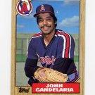 1987 Topps Baseball #630 John Candelaria - California Angels