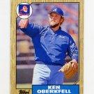 1987 Topps Baseball #627 Ken Oberkfell - Atlanta Braves NM-M