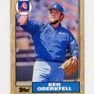 1987 Topps Baseball #627 Ken Oberkfell - Atlanta Braves ExMt