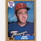 1987 Topps Baseball #618 Tom Kelly MG / Minnesota Twins Team Checklist