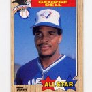 1987 Topps Baseball #612 George Bell AS - Toronto Blue Jays