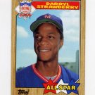 1987 Topps Baseball #601 Darryl Strawberry AS - New York Mets