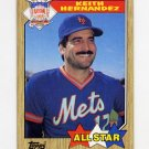1987 Topps Baseball #595 Keith Hernandez AS - New York Mets