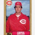 1987 Topps Baseball #592 Chris Welsh - Cincinnati Reds