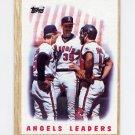 1987 Topps Baseball #556 The California Angels Team Leaders / Mike Witt