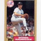 1987 Topps Baseball #555 Dennis Rasmussen - New York Yankees