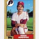 1987 Topps Baseball #553 Mike Maddux RC - Philadelphia Phillies