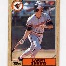 1987 Topps Baseball #552 Larry Sheets - Baltimore Orioles