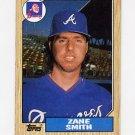 1987 Topps Baseball #544 Zane Smith - Atlanta Braves