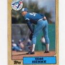 1987 Topps Baseball #510 Tom Henke - Toronto Blue Jays
