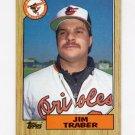 1987 Topps Baseball #484 Jim Traber - Baltimore Orioles