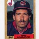 1987 Topps Baseball #463 Tom Candiotti - Cleveland Indians