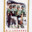1987 Topps Baseball #456 The Oakland A's Team Leaders