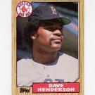 1987 Topps Baseball #452 Dave Henderson - Boston Red Sox