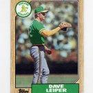 1987 Topps Baseball #441 Dave Leiper - Oakland A's
